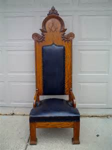Masonic Chairs For Sale antique ornate carved oak masonic chair for sale