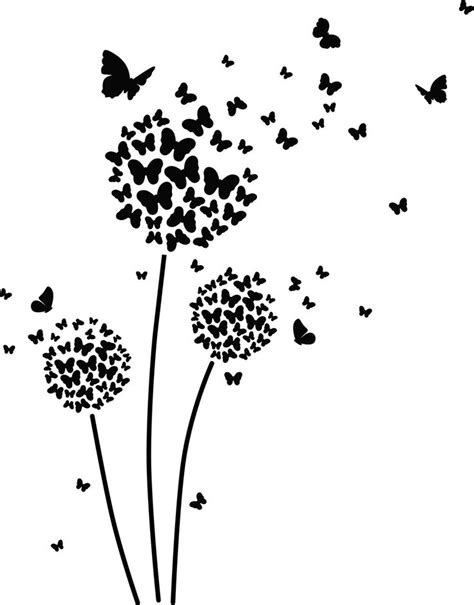 Butterfly Dandelion ai eps jpg png and svg Clipart, Vinyl
