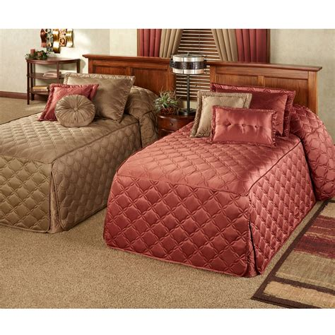 Quilted Bedspreads Color Classics R Quilted Fitted Bedspreads