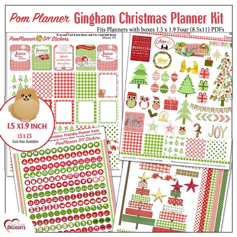 free printable christmas planner stickers winter planner kits and free planner stickers