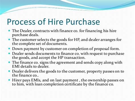 hire purchase template hire purchase