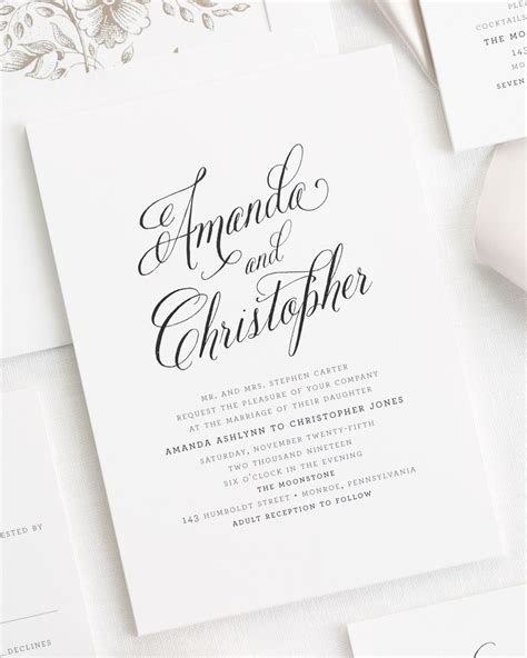 rustic modern ribbon wedding invitations ribbon wedding invitations by shine