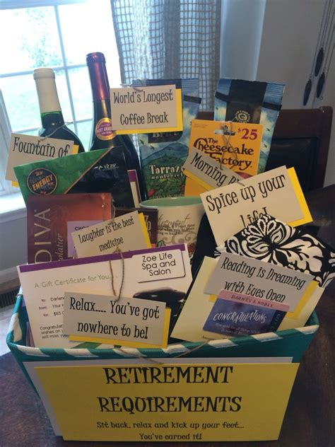 8 Ideas For After Retirement by Retirement Gift Basket Diy Retirement