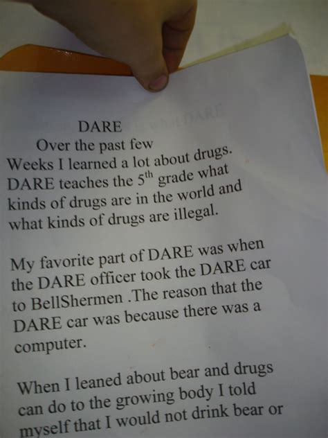 d a r e essays 5th grade www imgkid the image kid