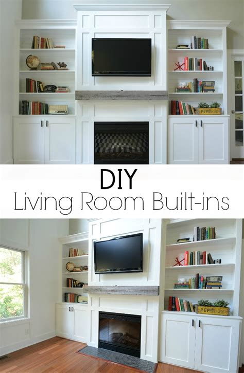 Living Room With Built Ins Diy Living Room Built Ins Check Out The Before And Afters