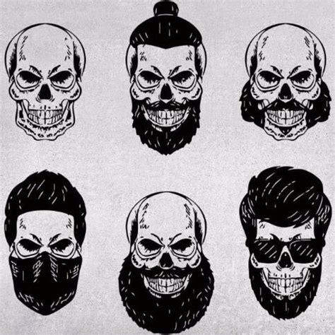 skull wall stickers skull wall decal skull signboard barber shop beard