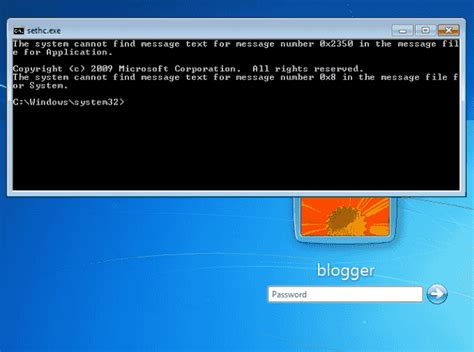 Windows Reset Password Command Line | reset windows 7 password without password reset disk