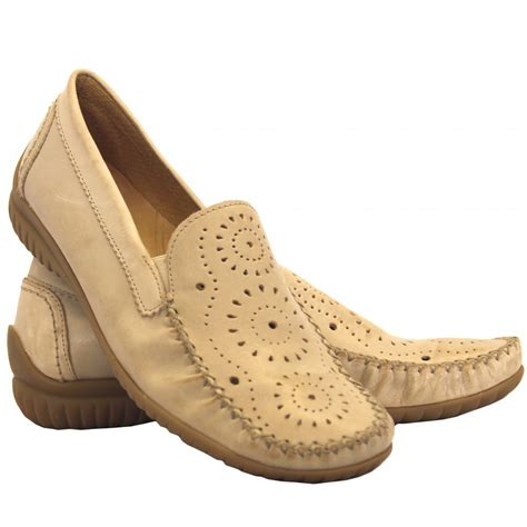 gabor shoes florence womens moccasin shoe in taupe mozimo