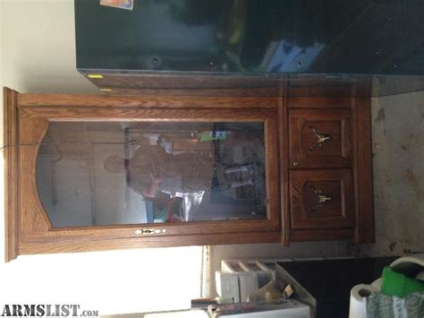 wood and glass gun cabinet armslist for sale wood gun cabinet