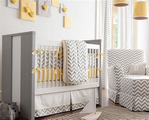 Chevron Nursery Decor Baby Nursery With Chevron Stripes Decor Decoist