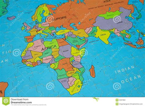 africa map puzzle puzzle map africa stock photo image 5337950