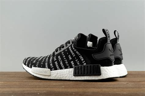 adidas nmd r1 runner casual shoes japanese black white s79519 pubshoes