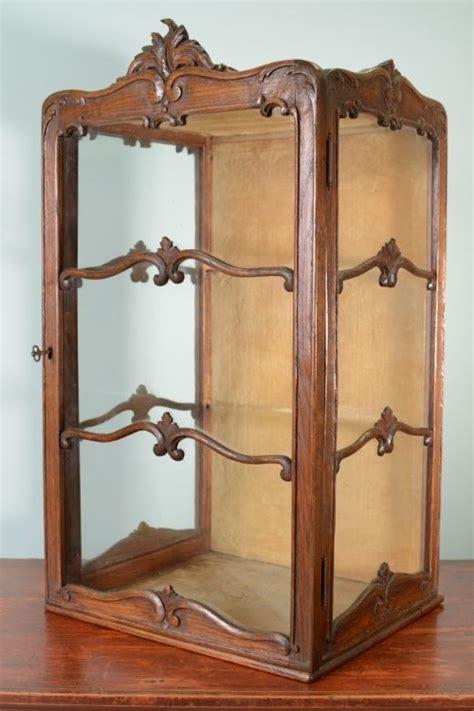 Oak Wall Display Cabinet by Antique Oak Wall Display Cabinet 279065