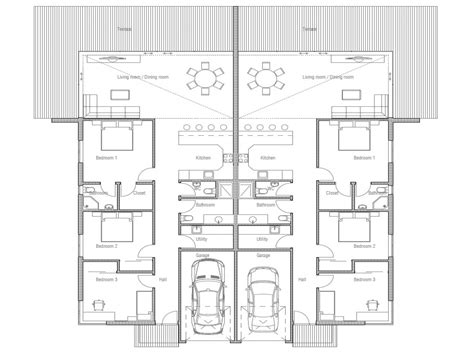 Floor Plans For Duplexes 3 Bedroom by Duplex House Plan 3 Bedroom Duplex Floor Plans Plan For