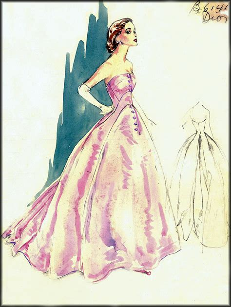 vintage fashion sketches dresses www imgkid the