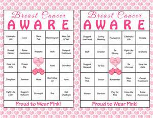 30 breast cancer awareness month bingo cards printable