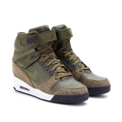 wedge sneakers nike air revolution sky hi wedge sneakers in brown lyst