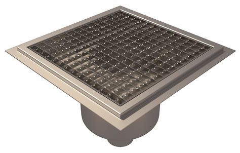 Square Floor L Floor Gully Resin Flooring L15 Square Grating Bottom Outlet 216 75 300x300