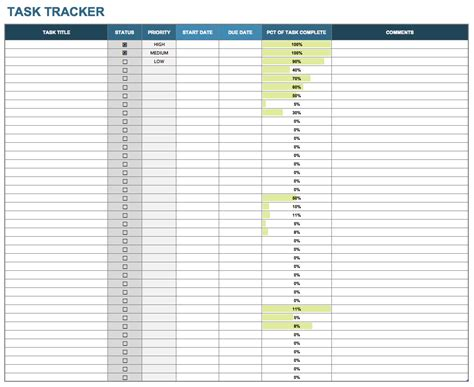 Excel Task Tracker Template by Excel Task Tracker Template Task List Templates