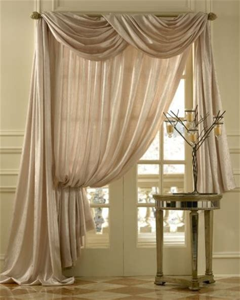 swag curtains for bedroom geneva scroll linen scarf swag window topper