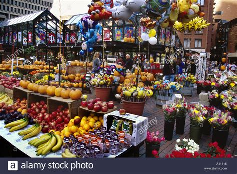 c fruit boston ma outdoor flower and fruit market at quincy market boston