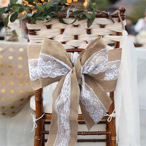 lace chair sashes east 2016 275 x 15cm lace bowknot burlap chair sashes