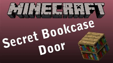 minecraft secret bookcase door tutorial beta 1 7 2