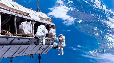 mission astronauts  space based satellite hd wallpaper