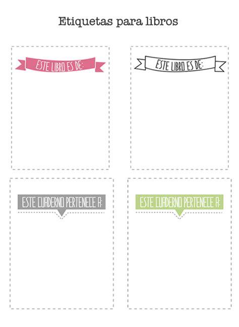 etiquetas de libros para imprimir manualidades