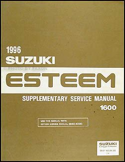 1996 suzuki esteem repair shop manual supplement original