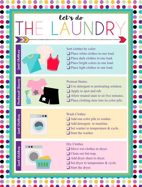 How To Wash Color Clothes by Free Printable Laundry Chart Charts And Kid