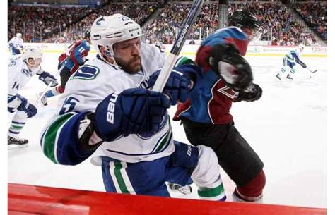 players bench colorado photos canucks beat avs sweep road trip