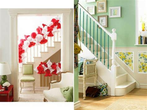 treppenaufgang dekorieren deko ideen treppenaufgang execid