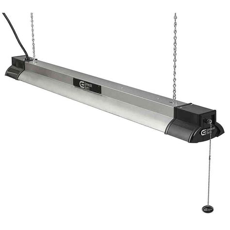 in shop light 96 watt 4 ft hanging plugin shop light fixture w 4x led