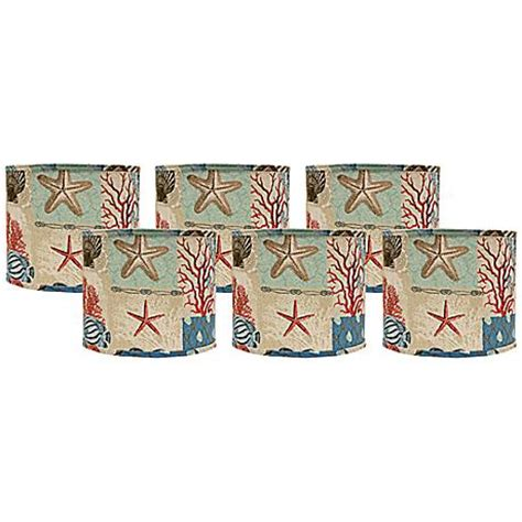 Patchwork Lshade - set of 6 nautical patchwork shades 5x5x4 5 clip on
