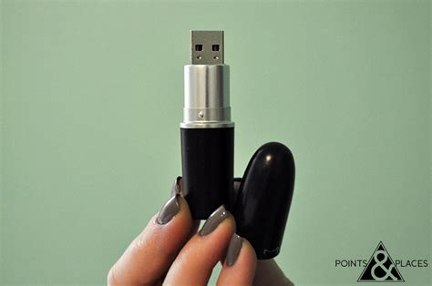 Usb Flash Drive That Looks Like A Lipstick by Black Sparkle And Silver Lipstick Usb Flash Drive