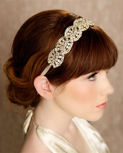 1920s wedding hairstyles gold crystal headband wedding pinterest 1920s hair