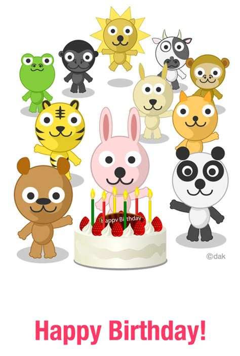 animal birthday cards lilbibby