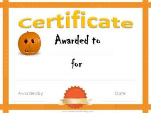 costume certificate template 5 best images of costume award printable