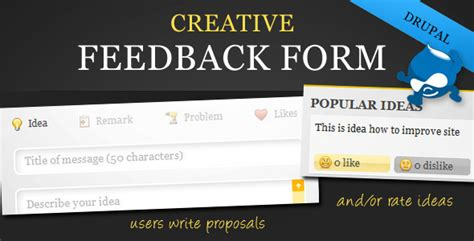 plugins creative feedback form with voting system