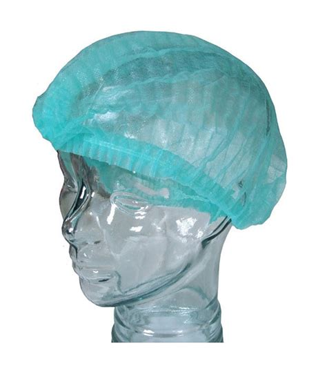 Mob Cap Hairnet Sekali Pakai disposable hairnets bouffant mob cap