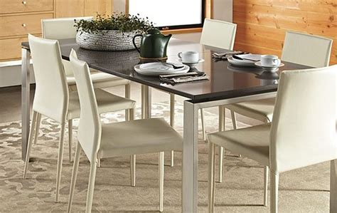 rand dining table stainless steel by r b modern