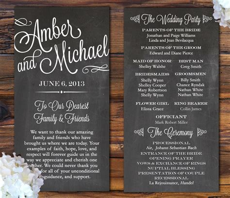 wedding invitations program design 7 pretty wedding program ideas aisle