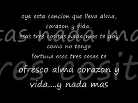 y lyrics alma corazon y vida lyrics