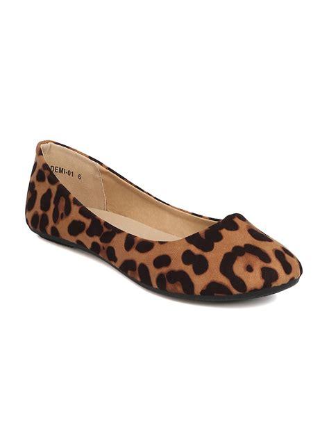 leopard shoes flats shoes refresh gc67 faux suede leopard ballet flat
