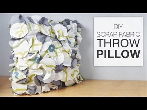 diy scrap fabric throw pillow tutorial youtube