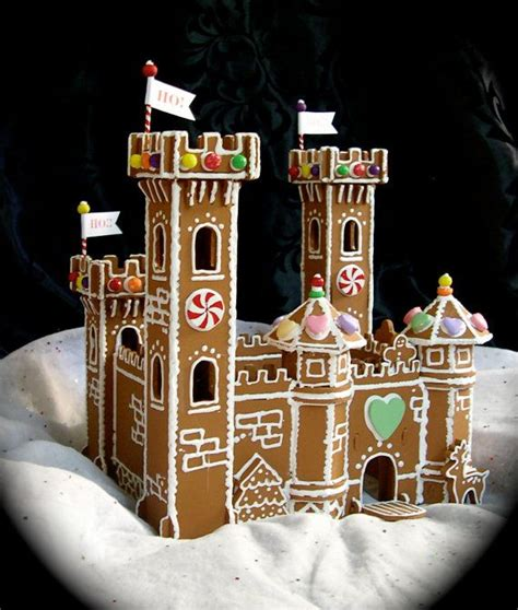 gingerbread castle template reserved for faux gingerbread castle