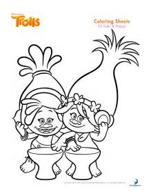trolls coloring sheets and printable activity sheets and a