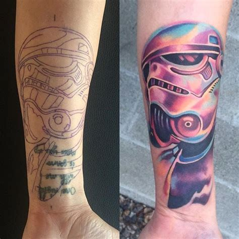tattoo blaster pen stormtroopers watercolor star wars tattoo stars wars