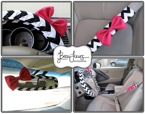 Set Unq steering wheel cover bow set custom steering wheel cover